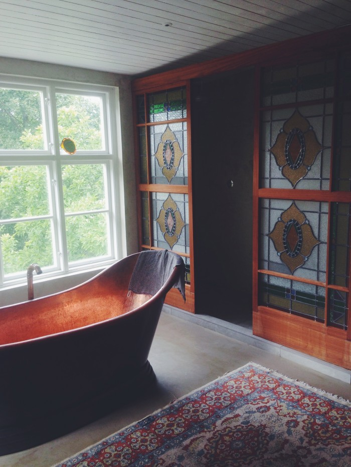 malin perssons hem badrum snygga kopparbadkar dusch teak diy