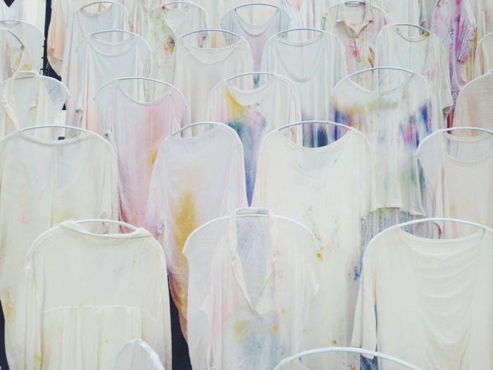 merci paris shop installation tie dye batik tshirt inspiration