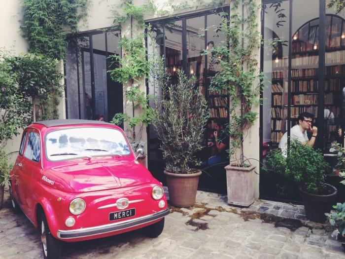 merci paris shop bil innergard bokkafe book cafe