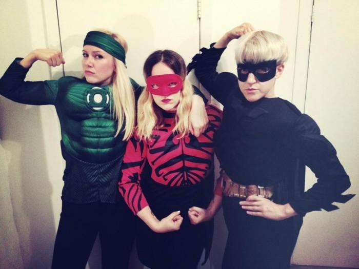 Halloween maskerad kla ut sig superhjaltar
