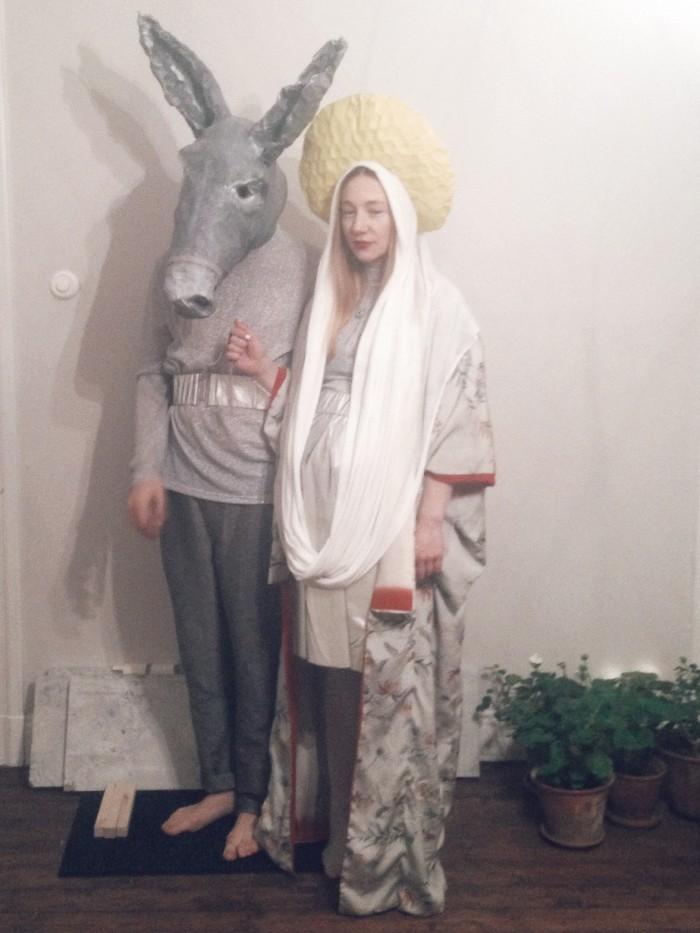 halloween utklädnad jungfru maria och åsnan