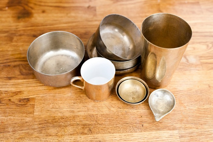 julie thevenot home massing brass cups bowls beautiful photo agnes thor