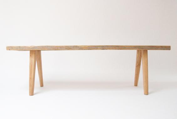 elliot white designer berlin wood bench