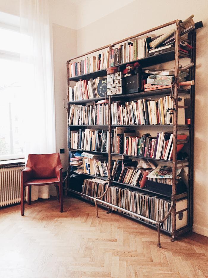 Industriell-bokhylla-bibliotek