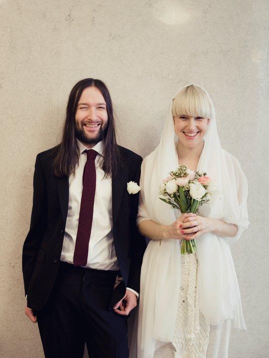 wedding happy couple bride